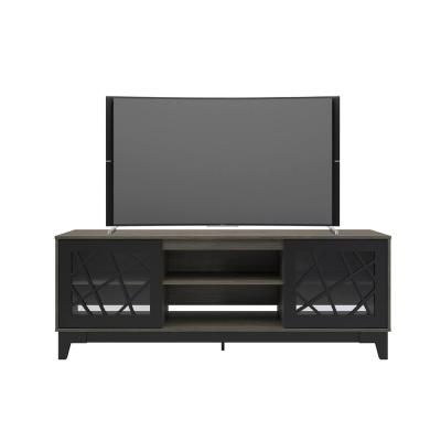 Graphik Bark Grey and Black 72 in. TV Stand