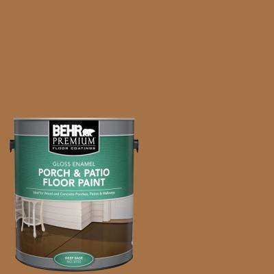 1 gal. #SC-134 Curry Gloss Enamel Interior/Exterior Porch and Patio Floor Paint