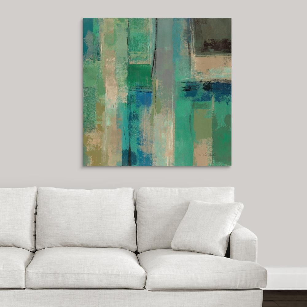 """Emerald Fields Square II"" by Silvia Vassileva Canvas Wall Art"