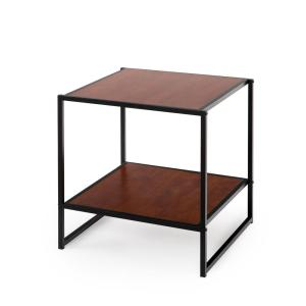 Internet #301072517. Zinus Modern Studio Chestnut Side Table