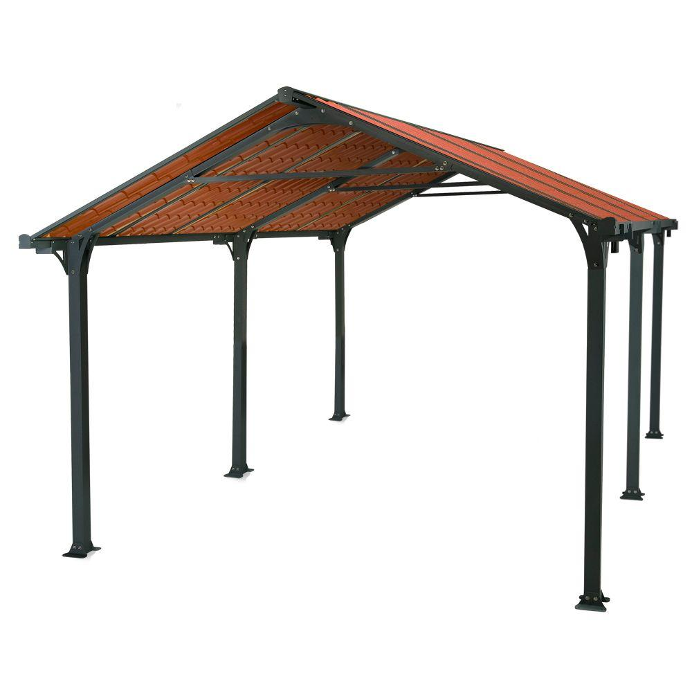 Palram Frontier 5000 11 ft. x 16 ft. Grey Carport-DISCONTINUED