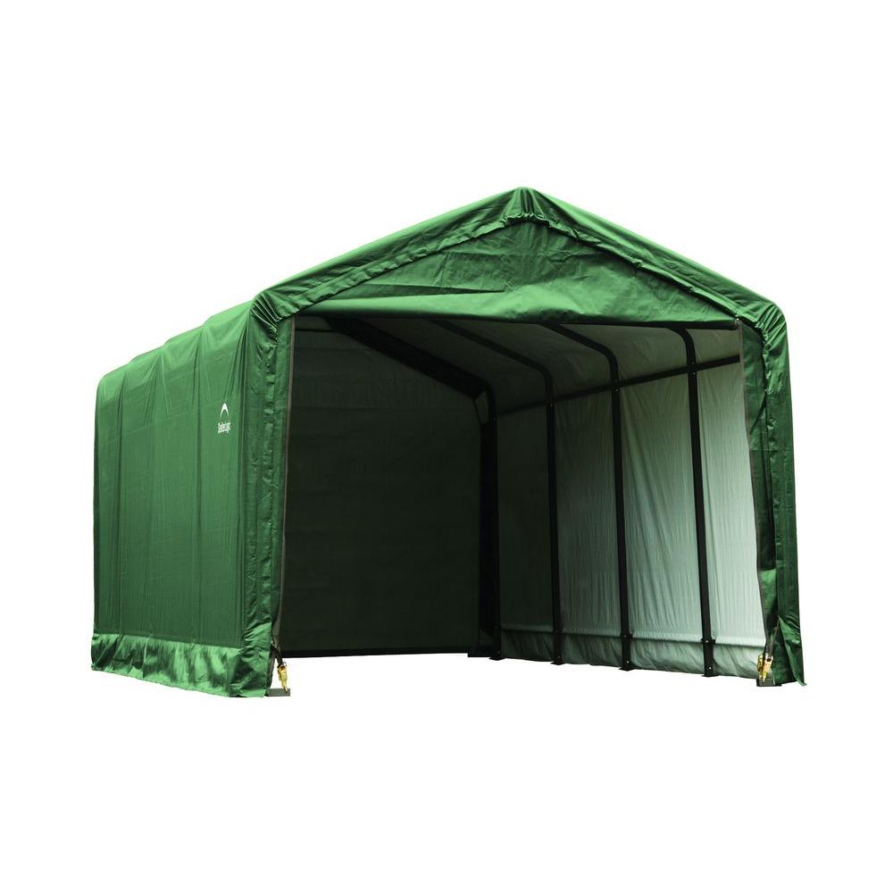 Shelterlogic Sheltertube 12 Ft X 20 Ft X 11 Ft Green