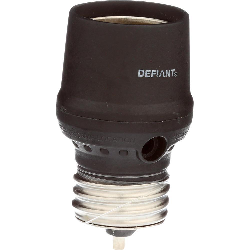 Defiant Cfl Led Screw In Dusk To Dawn Light Control Black