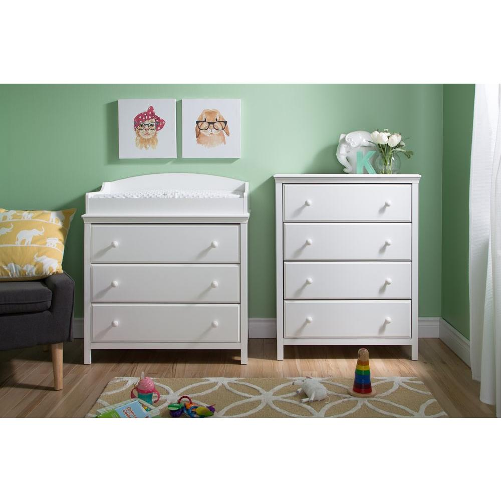 Candy Drawer White Changing Table Cotton