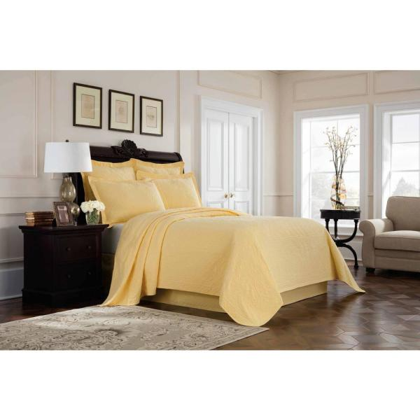 Royal Heritage Home Williamsburg Richmond Yellow Twin Coverlet 048975018224