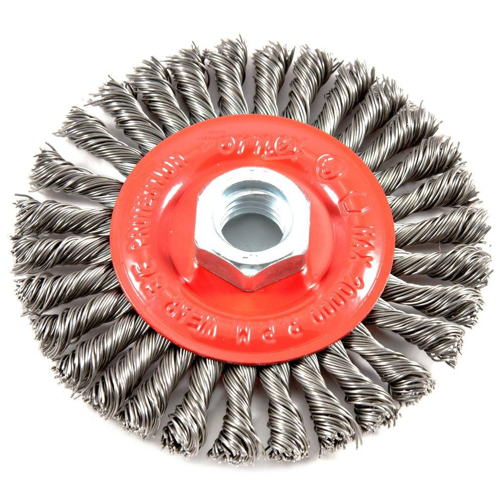 "4 1//2/""x 5//8/"" ARBOR WIRE WHEEL BRUSH ANGLE GRINDER NEW"