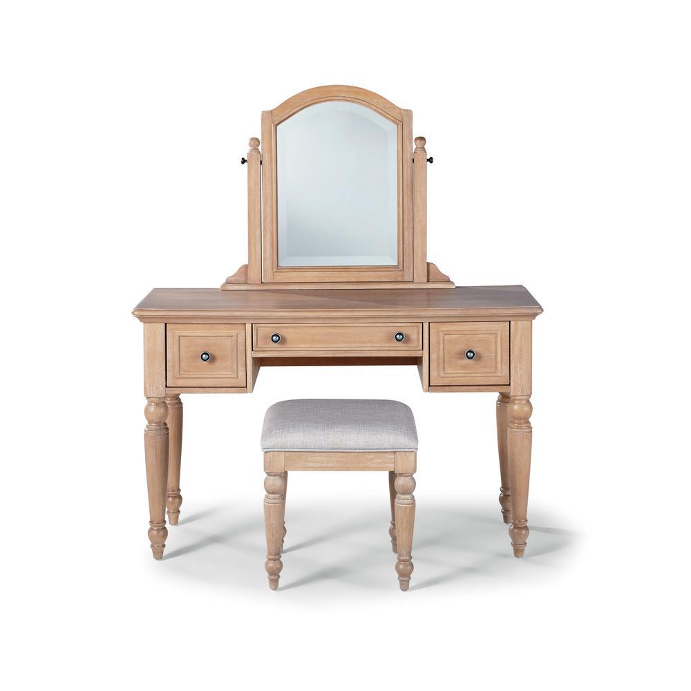 Cambridge 2-Piece White Washed Maple Vanity Set