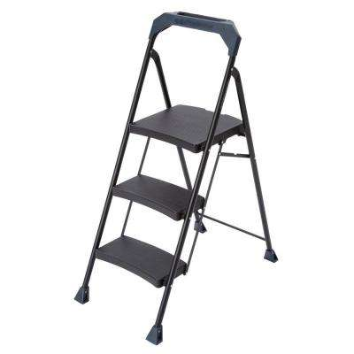 3-Step Steel Ladder with 250 lb. Load Capacity Type I Duty Rating