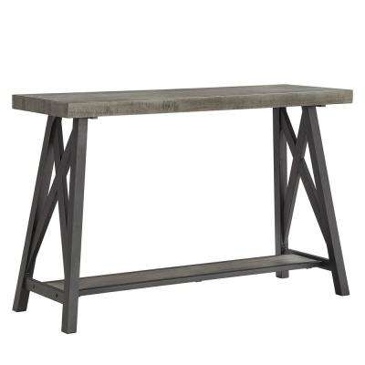 Grey Sofa Table With Shelf