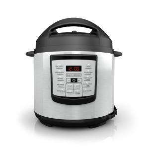Black & Decker 6 Qt. Stainless Steel Digital Pressure Cooker with Serving Spoon by BLACK+DECKER