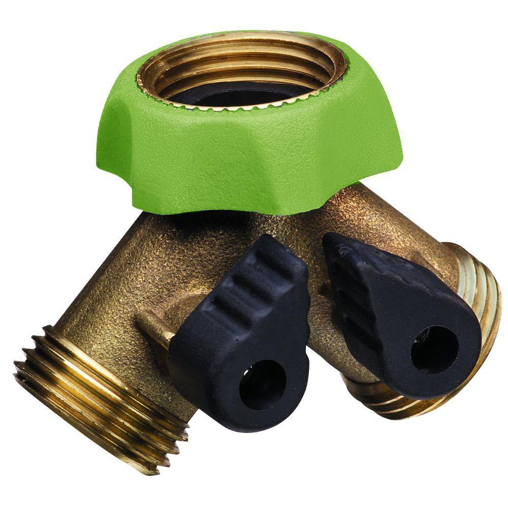 PRO Series Deluxe Brass Hose Adapter Faucet Y-Splitter