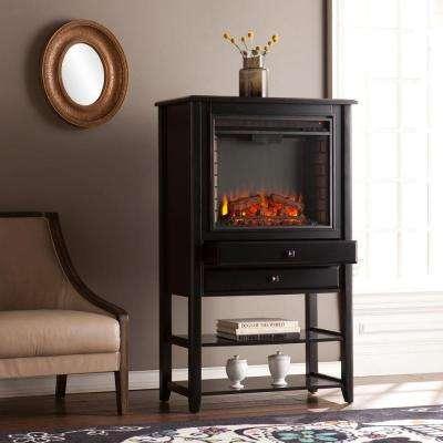 Anthony 32.25 in W Corner Convertible Electric Fireplace Storage Tower