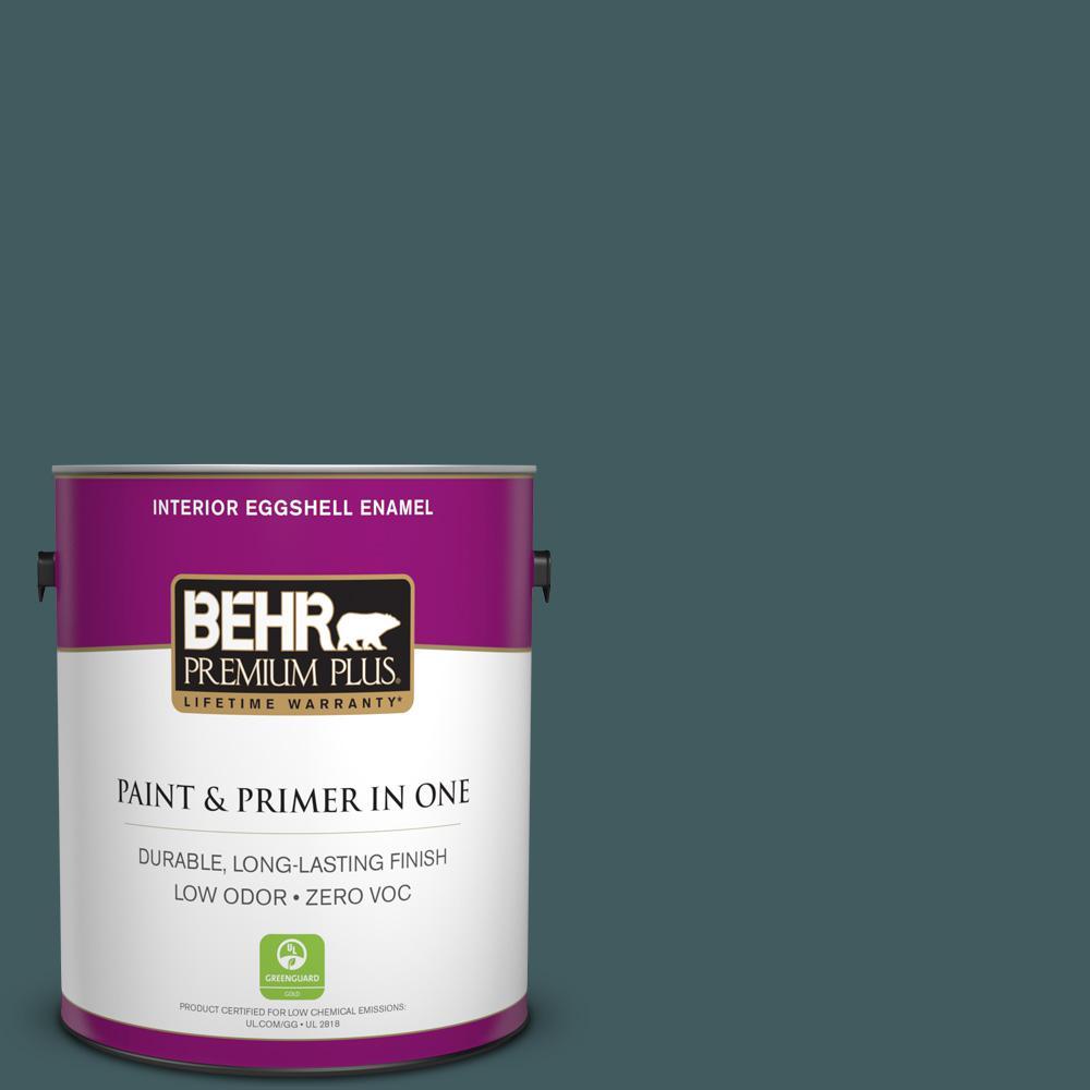 BEHR Premium Plus 1-gal. #BXC-15 Green Mallard Eggshell Enamel Interior Paint