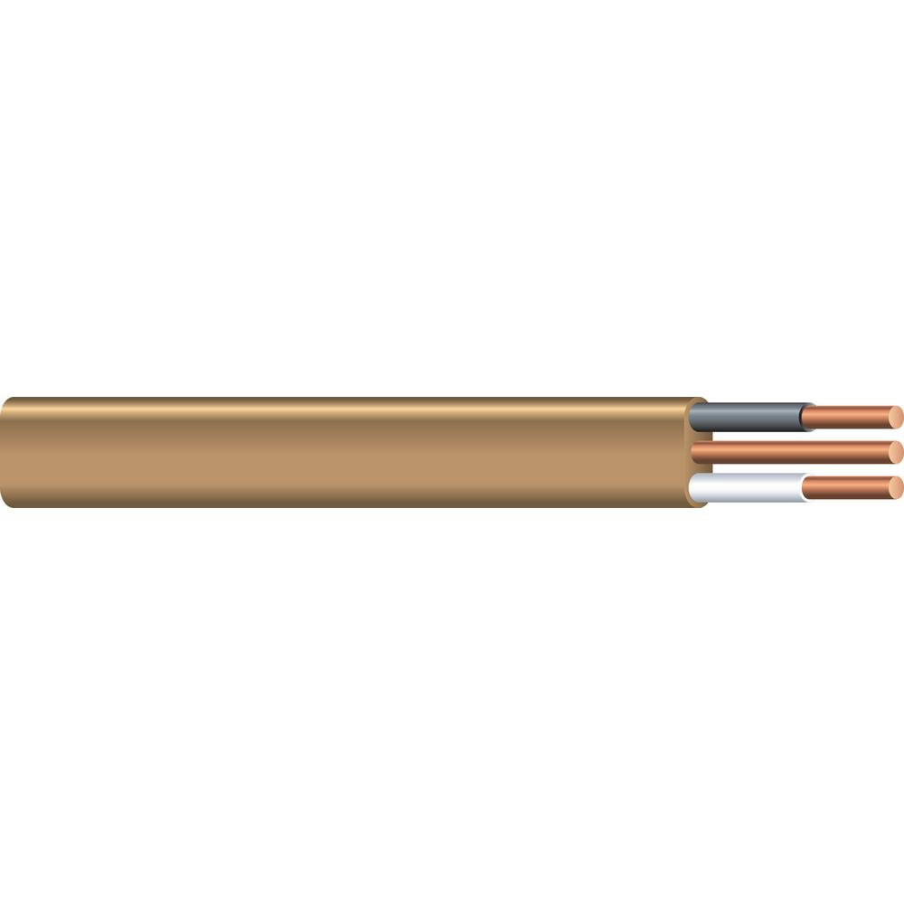 Southwire 100 ft. 12/2 Brown Solid CU UF-B W/G Wire