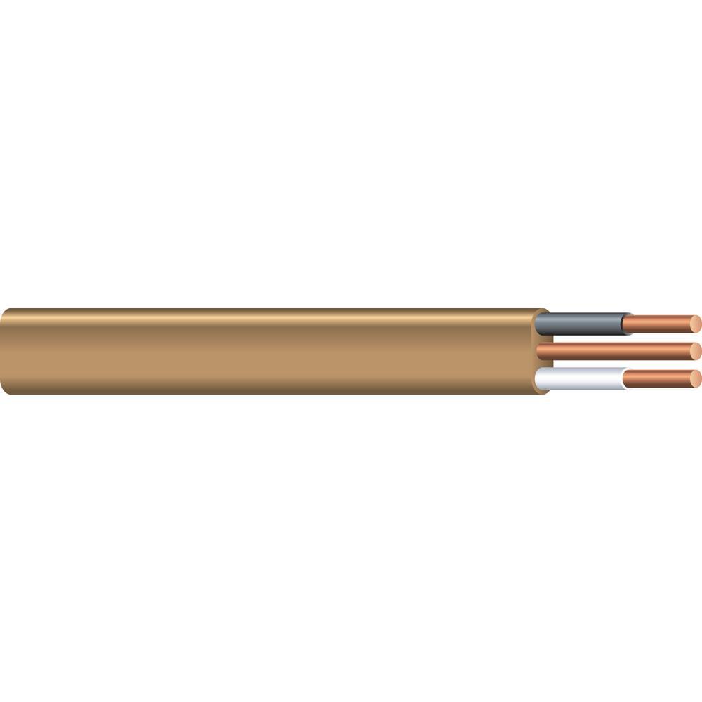 100 ft. 12/2 Brown Solid CU UF-B W/G Wire