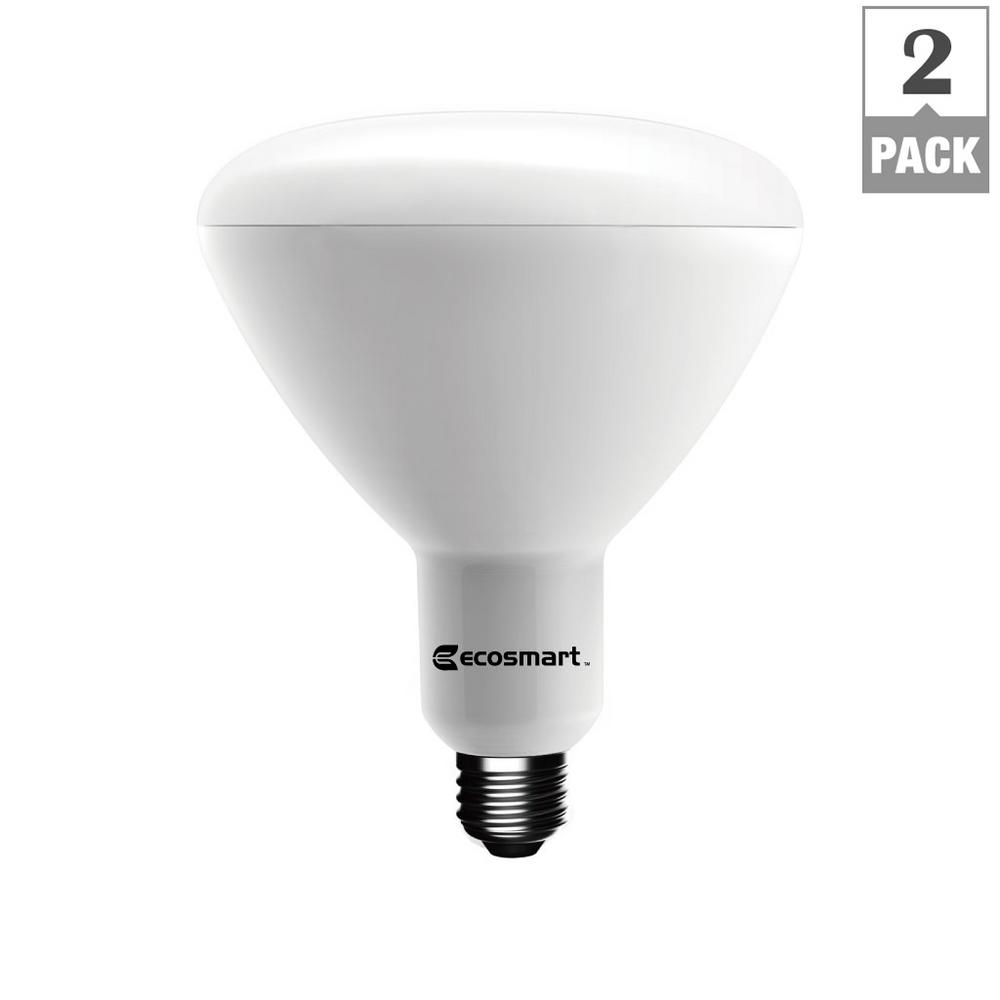 90W Equivalent Soft White BR40 Dimmable LED Light Bulb (2-Pack)