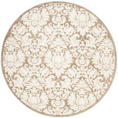 Amherst Wheat/Beige 9 ft. x 9 ft. Round Area Rug