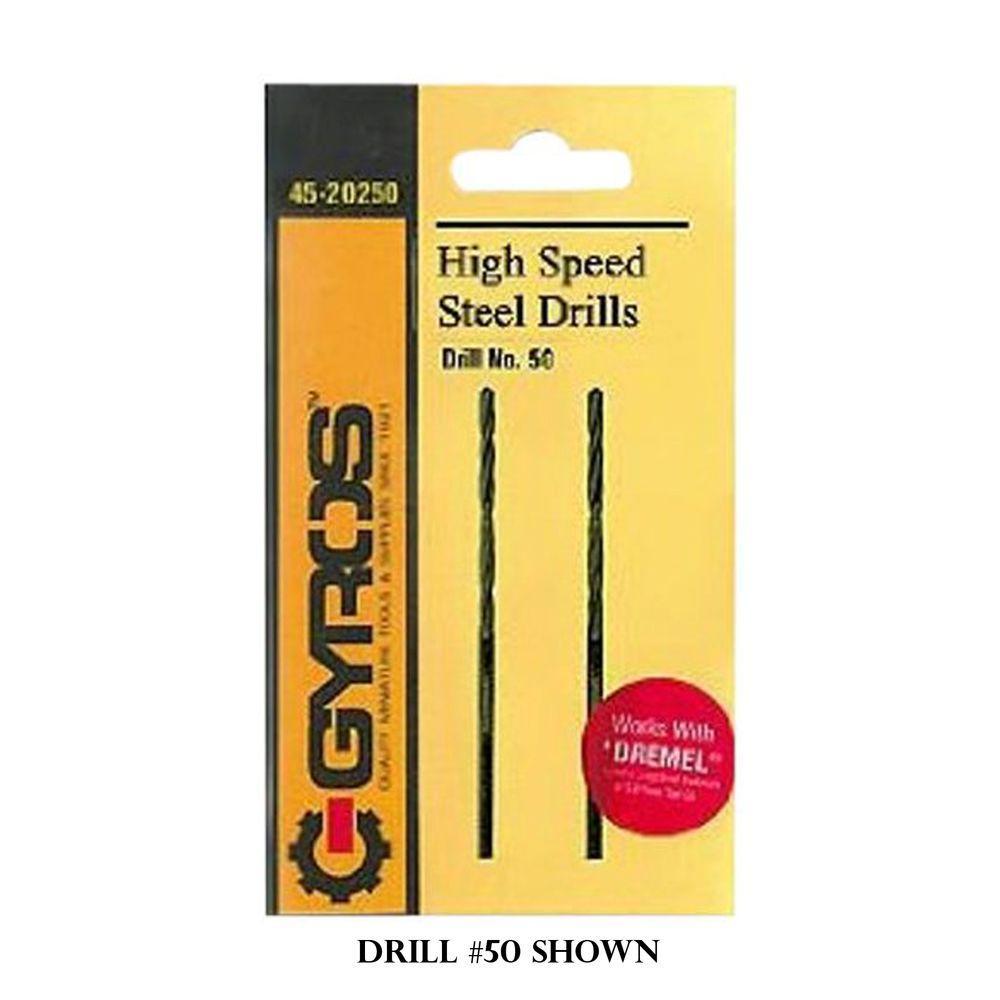 Gyros #61 High Speed Steel Wire Gauge Drill Bit (Set of 2)
