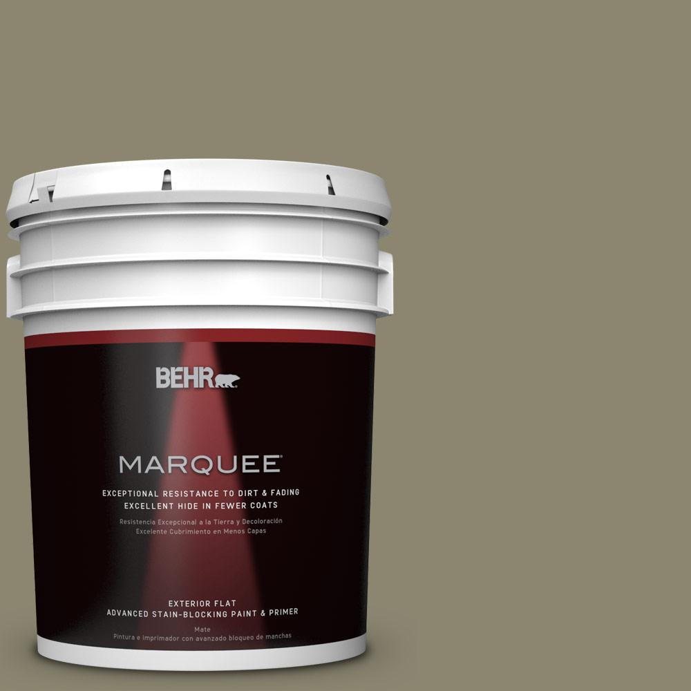 5-gal. #PPU8-21 Mossy Bank Flat Exterior Paint