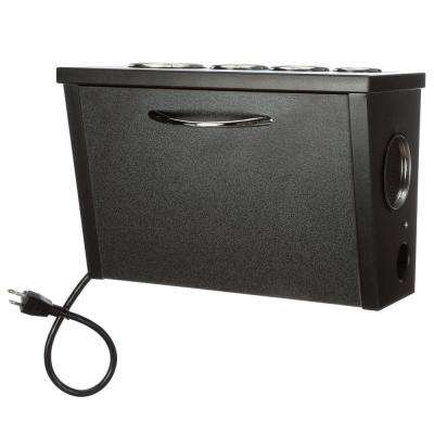 Wall Mount Hair Appliance Storage System in Black Laminate