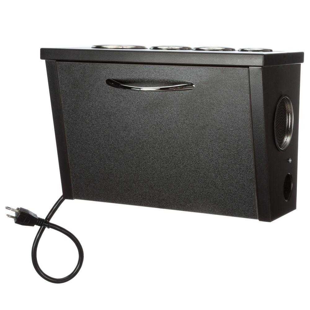 POJJO Wall Mount Hair Appliance Storage System in Black L...