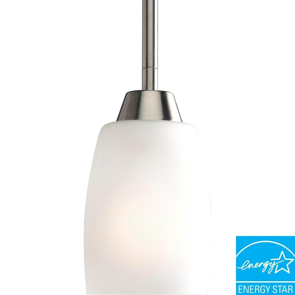Progress Lighting Wisten Collection 1-Light Brushed Nickel Mini Pendant