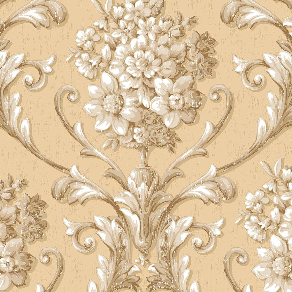 Norwall Floral Damask Wallpaper Cs35620 The Home Depot
