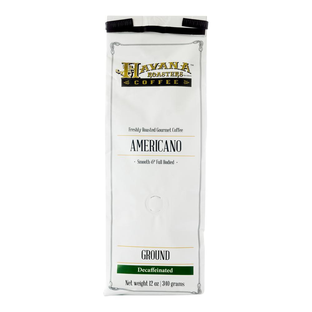 Americano DECAF 12 oz. Coffee Bags Coffee Grounds (3-Bags)