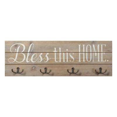 Bless this Home Wood Hooks