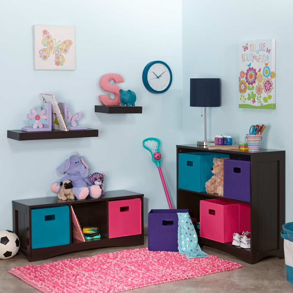 Riverridge Kids Espresso Open Bookcase 02 028 The Home Depot