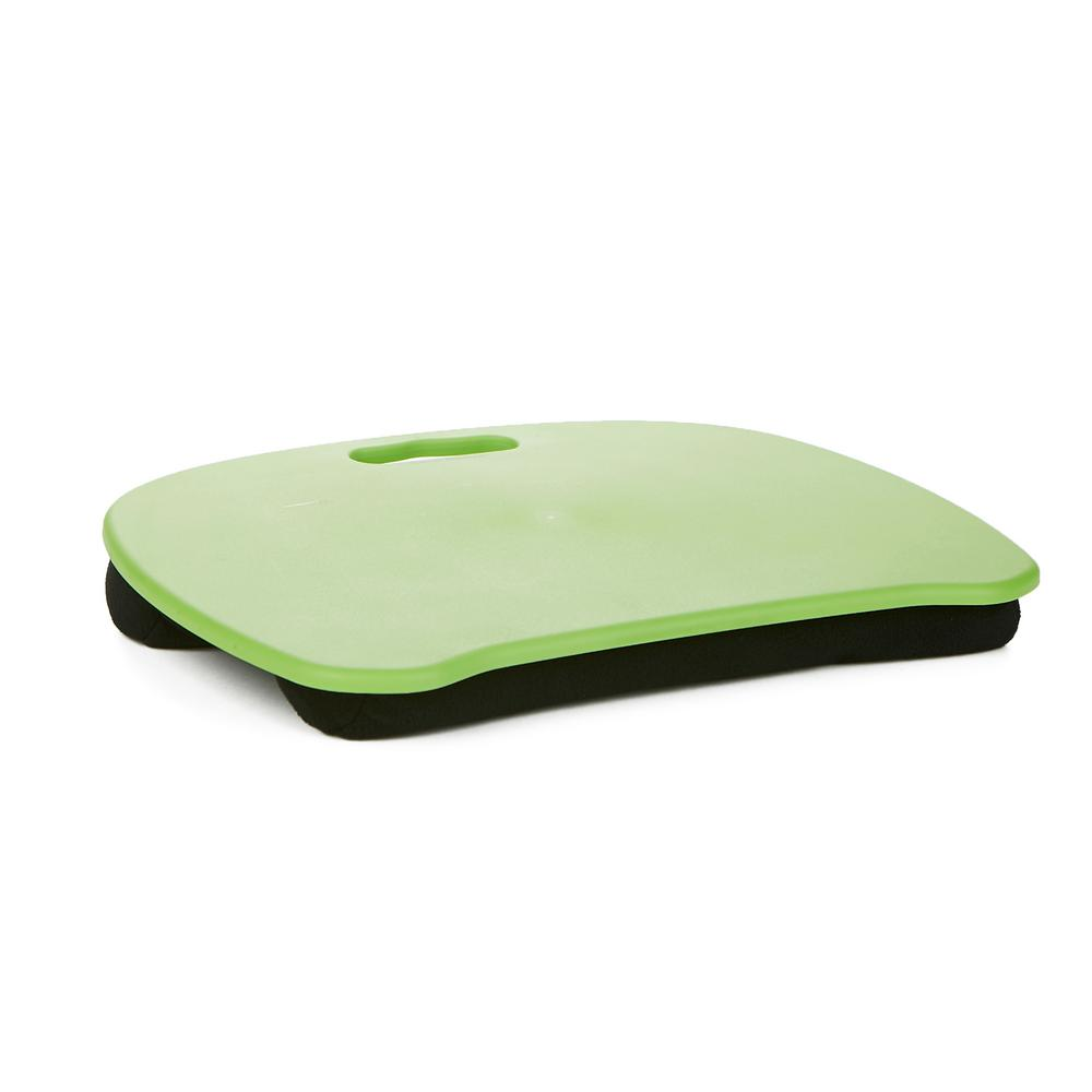 Mind Reader Portable Laptop Lap Desk With Handle Monitor Holder Laptop Lap Holder Built In Cushion For Comfort Green