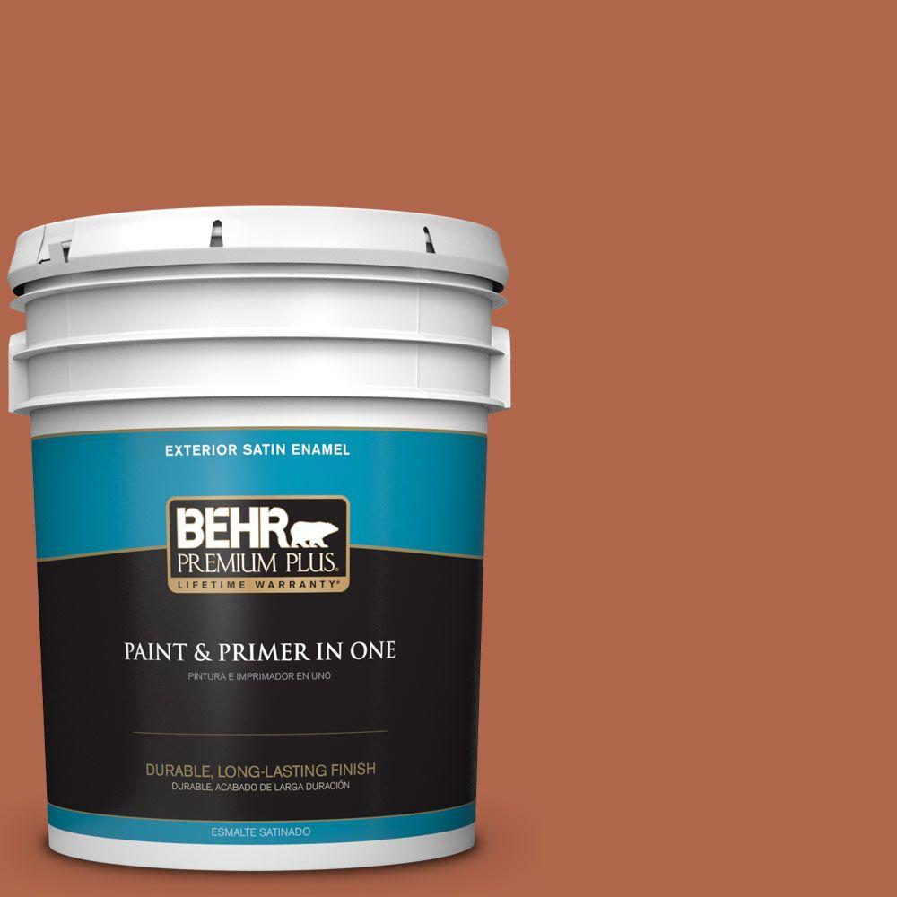 BEHR Premium Plus 5-gal. #M200-7 Rusty Gate Satin Enamel Exterior Paint