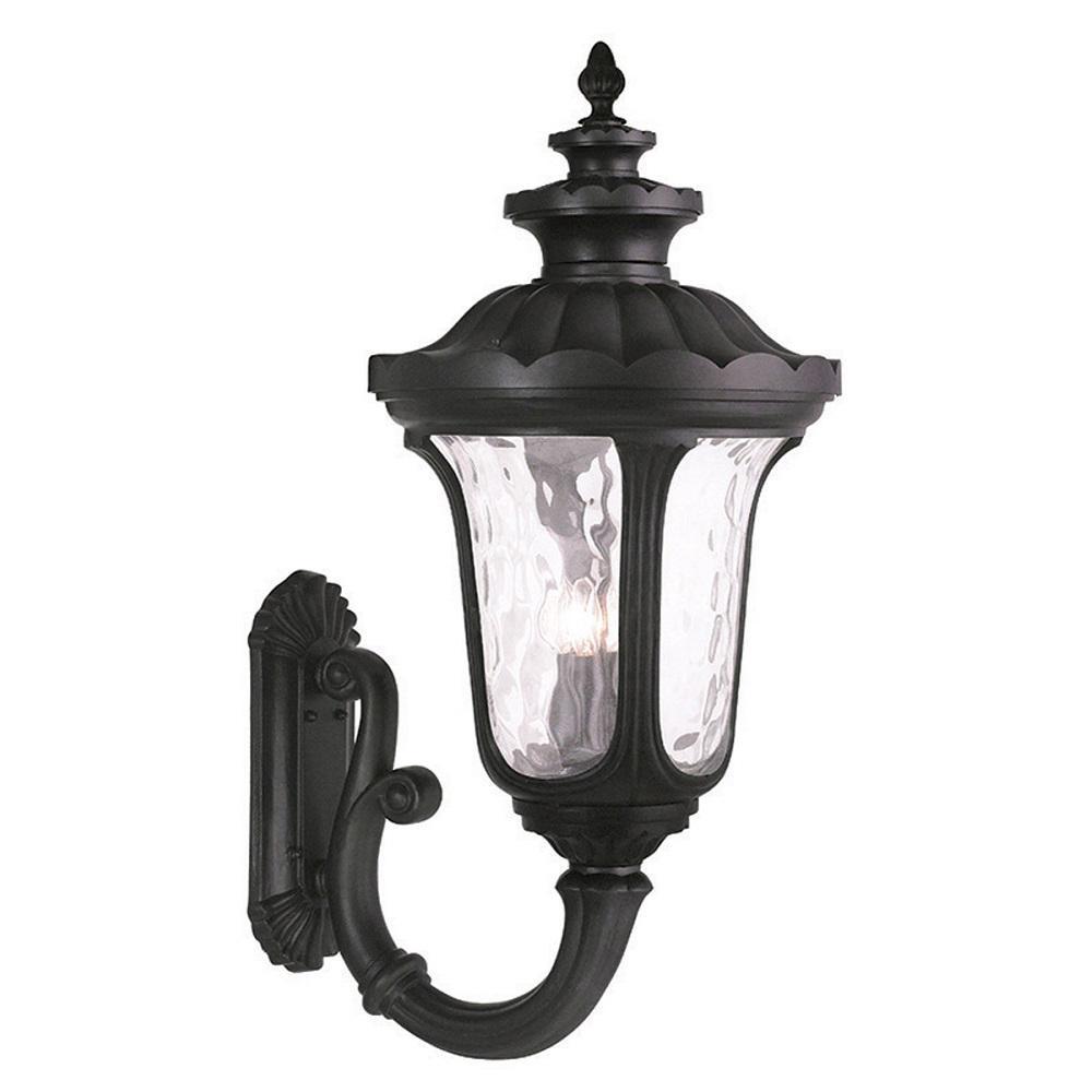 Livex Lighting Oxford 4-Light Black Outdoor Wall Lantern Sconce