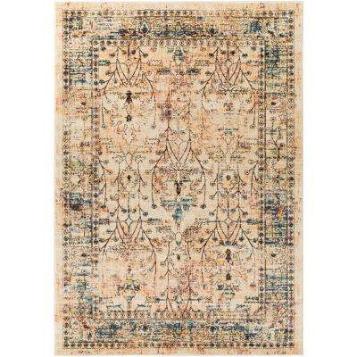 Tharunaya Dark Brown 8 ft. x 10 ft. Area Rug