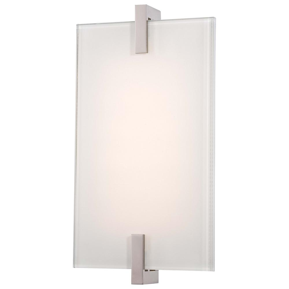 Hooked 12 Watt Polished Nickel Integrated LED Wall Sconce