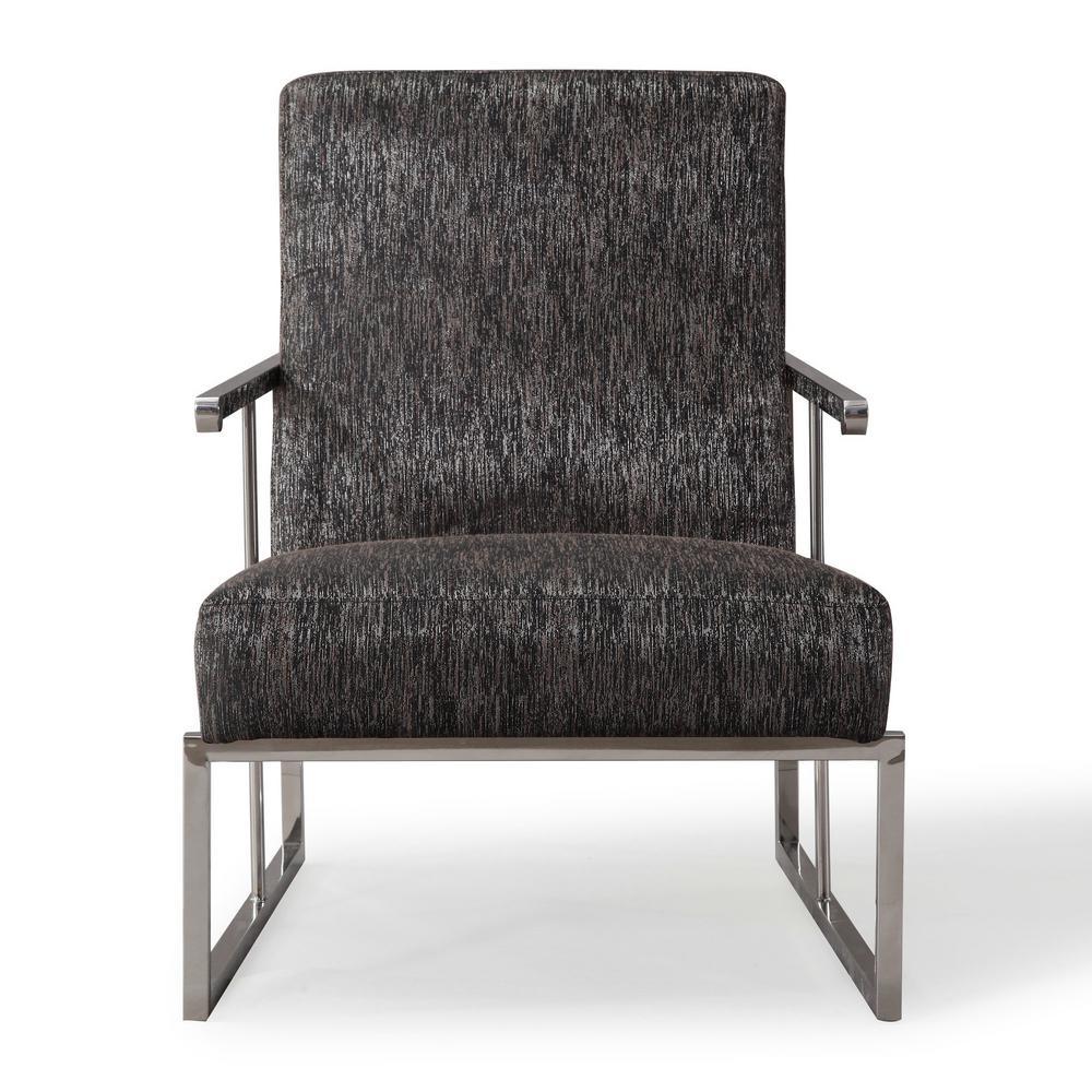 Liv Metallic Black Linen Chair