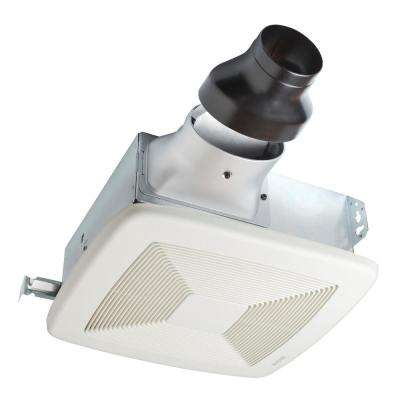 LoProfile 80 CFM Ceiling/Wall Bathroom Exhaust Fan with 4 in. Oval Duct or 3 in. Round Duct, ENERGY STAR*