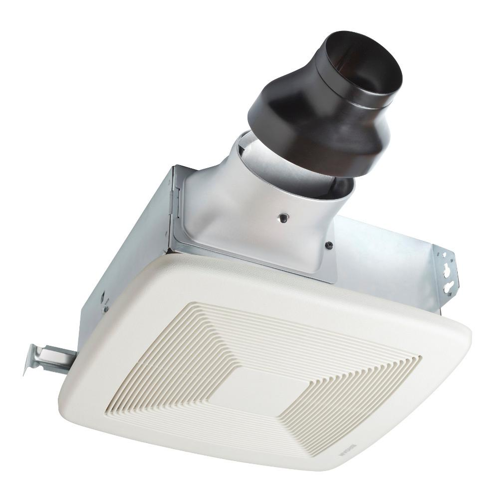 Broan-NuTone LoProfile 80 CFM Ceiling/Wall Bathroom Exhaust Fan with 4 in. Oval Duct or 3 in. Round Duct, ENERGY STAR*