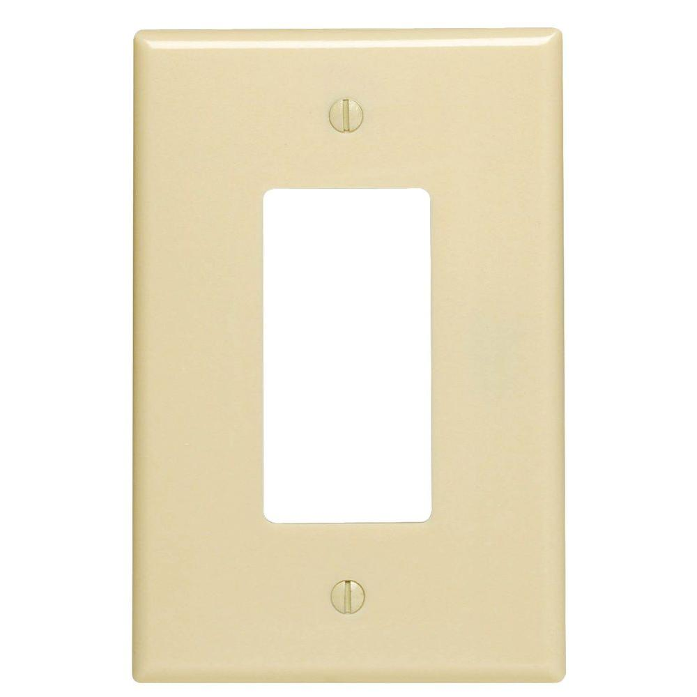 Leviton Decora 1 Gang Jumbo Wall Plate Ivory R51 86601 00i The