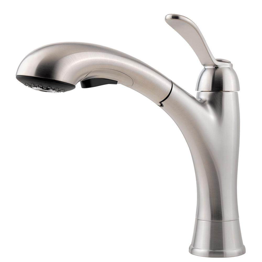 Clairmont Single-Handle Pull-Out Sprayer Kitchen Faucet in Stainless Steel