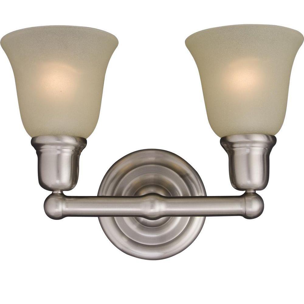 Bel Air 2-Light Satin Nickel Bath Vanity Light