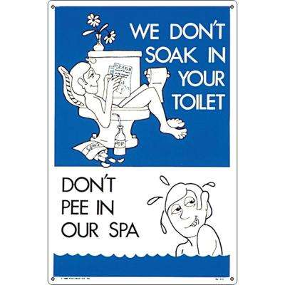 Residential or Commercial Swimming Pool and Spa Signs, Don't Pee in Our Spa