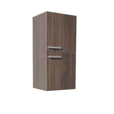 12-63/100 in. W x 27-1/2 in. H x 12 in. D Bathroom Linen Storage Cabinet in Gray Oak