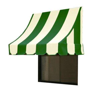 25 ft. Nantucket Window/Entry Awning (44 in. H x 36 in. D) in Forest/White Stripe