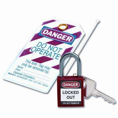 Compact Safety Padlock Kit - Red
