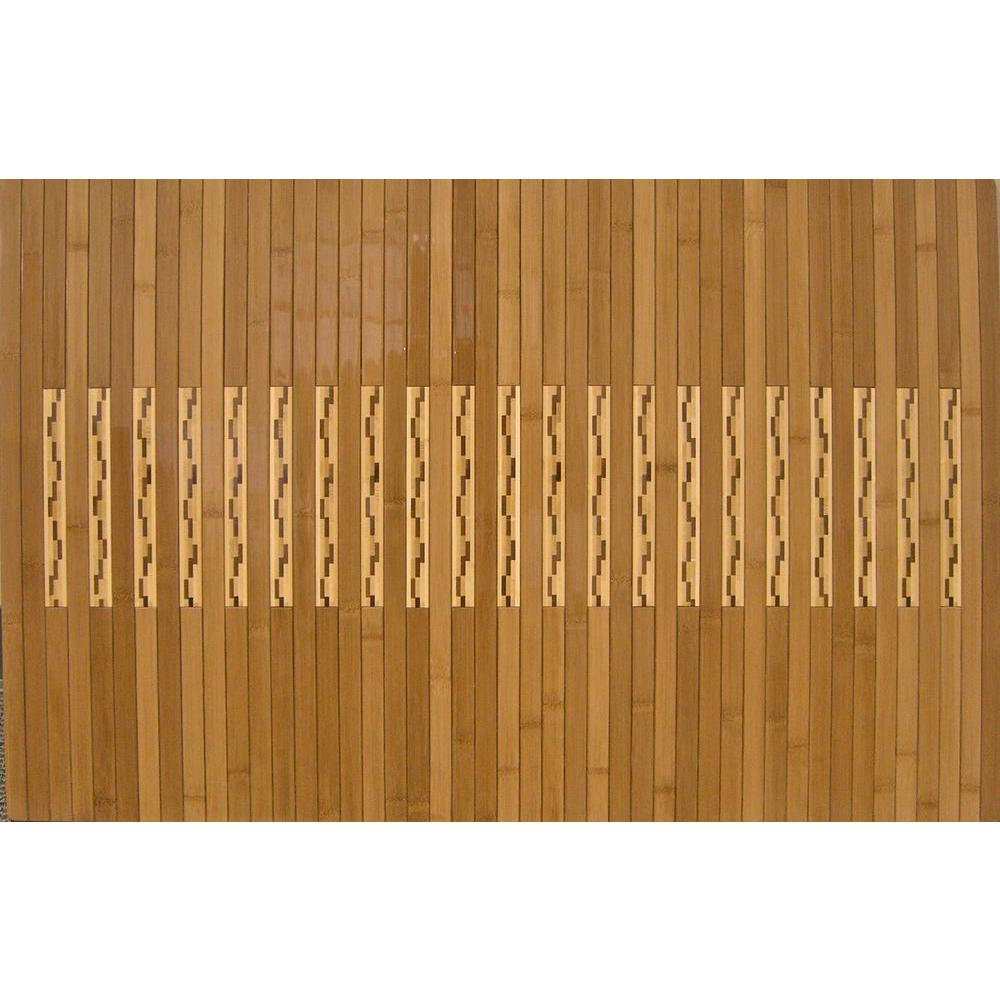 Anji Mountain Light Brown 24 in. x 36 in. Bamboo Kitchen and Bath ...