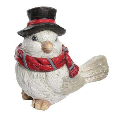 15 in. Christmas Dove Statue with Hat