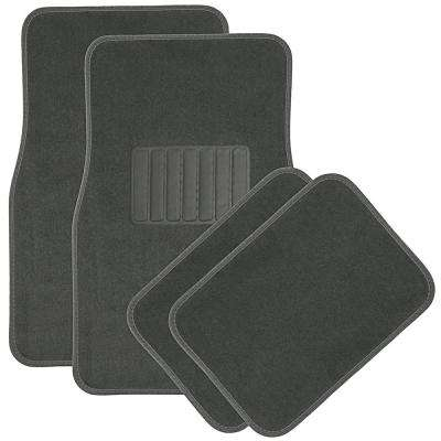 4-Piece 17.5 in. D x 26.5 in. H x 13 in. Rear Rubber Floor Mats
