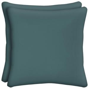 Mediterranean Solid Square Outdoor Throw Pillow (2-Pack)