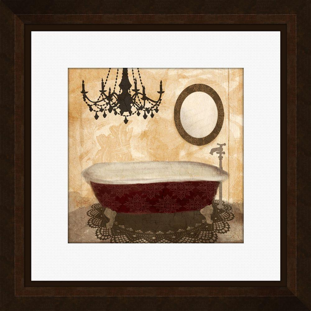 PTM Images 21-1/4 in. x 21 -1/4 in. \'Red Guest Bathroom A\